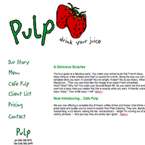 Cafe Pulp website screenshot