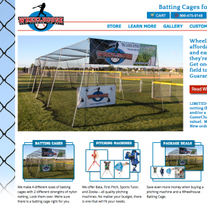 Cages Plus Screenshot of site
