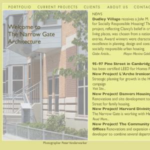 The Narrow Gate site Screenshot