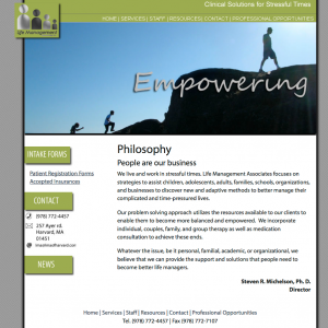 LMA website screenshot