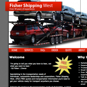 Fisher Shipping West website screenshot